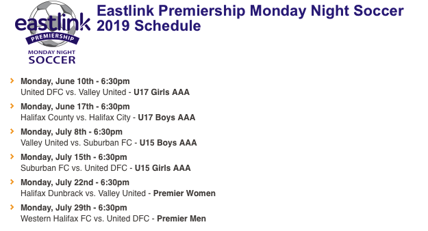 Eastlink Monday Night Soccer